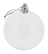 Christmas Balls Festive Season Decor Holiday Hanging Ornament Xmas Tree Clear See Through Decoration w/ Hanger - 24 Pc Set