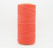 NEON CORAL 1mm Waxed Polyester Twisted Cord Macrame Bracelet Thread Artisan String