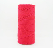 NEON PINK 1mm Waxed Polyester Twisted Cord Macrame Bracelet Thread Artisan String