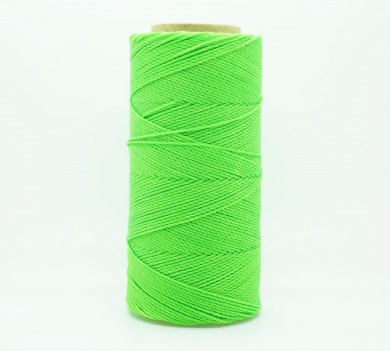 NEON GREEN 1mm Waxed Polyester Twisted Cord Macrame Bracelet Thread Artisan String (180yards Spool)