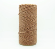 TAN 1mm Waxed Polyester Twisted Cord Macrame Bracelet Thread Artisan String