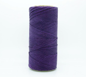 PURPLE 1mm Waxed Polyester Twisted Cord Macrame Bracelet Thread Artisan String