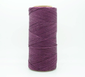 MAUVE 1mm Waxed Polyester Twisted Cord Macrame Bracelet Thread Artisan String