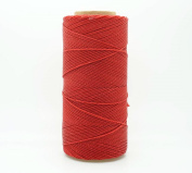 RED 1mm Waxed Polyester Twisted Cord Macrame Bracelet Thread Artisan String