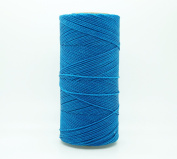 DARK TURQUOISE 1mm Waxed Polyester Twisted Cord Macrame Bracelet Thread Artisan String