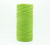 LIME GREEN 1mm Waxed Polyester Twisted Cord Macrame Bracelet Thread Artisan String