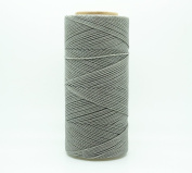 GREY 1mm Waxed Polyester Twisted Cord Macrame Bracelet Thread Artisan String