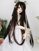 (22-24CM) BJD Doll Hair Wig 1/3 BJD SD DZ DOD LUTS / Black Long Hair Wig GA05