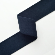 2.5cm - 2.2cm Navy Elastic Stretch Ribbon Trim, Stretch Elastic Band, headband, hand band and waist belt by 2-yards, SP-2315