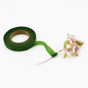 Adorox Green Floral Tape Self-sealing Arts and Crafts Flower Stem Wrap Supplies (Green