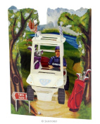 Santoro 3D Swing Greeting Card, Golf Buggy