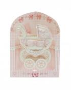 Santoro 3D Swing Greeting Card, Baby Girl Crib