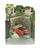 Santoro 3D Swing Greeting Card, Riverside Pub