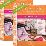 Bundle of 2 Packages of EQ Printables Regular Inkjet Fabric Sheets