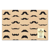 2 Sheets Distinguished Moustache Gift Wrapping Paper