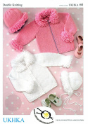 UKHKA/60 | Cardigans, Hat and Bonnet Baby Double Knitting Pattern