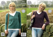 King Cole Ladies Double Knitting Pattern Womens Sweater & Cardigan Panache DK