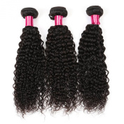 Golden Rule Hair 3 Bundles Peruvian Curly Virgin Hair Weave Unprocessed Human Hair Extensions Natural Colour Can Be Dyed and Bleached Tangle Free