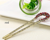 High Quality,5 Colours,crystal Antique Flower Hair Forks,hair Sticks,hair Chopsticks,wedding Hair Jewellery 3pieces/package