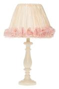 Glenna Jean Victoria Cream Lamp Base, Crinkle/Roses Shade, 30cm x 30cm x 60cm