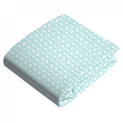 Kushies Baby Fitted Bassinet Sheet, Turqoise Octagon