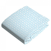 Kushies Baby Fitted Bassinet Sheet, Blue Octagon