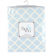 Ben & Noah Fitted Flannel Crib Sheet- Blue Lattice