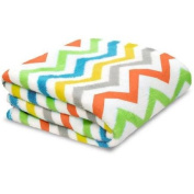 Little Starter Toddler Blanket, Multi Chevron, Super Soft and Lightweight, Machine Washable