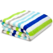 Little Starter Toddler Blanket, Blue Stripe, Super Soft and Lightweight, Machine Washable