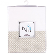 Ben & Noa Crib Skirt Percale, Linen Mini Print