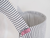 BebeChicCanada * High Quality 100% Cotton * Breastfeeding Covers * Boned Nursing Tops - White with Grey Stripes
