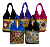 10 Cotton Ethnic Embroidered Indian Rajasthani Style Tote Wholesale Lot Bags