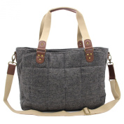 ULike Women's Baby Nappy Nappy Tote Bag Grey