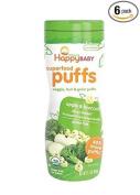 Happy Baby Organic Superfood Puffs, Apple & Broccoli, 60ml, Single Pack