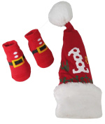 Rising Star Christmas Designed Hat and Socks Set Unisex-Baby Size 0-12 months