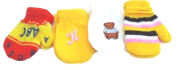 Four Pairs Magic Mittens for Infants Ages 6-24 Month 1 Pair with Monogram