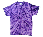 Purple Tie Dye Toddler Tee 2T, 3T, 4T 100% Pre-Shrunk Cotton Short Sleeve