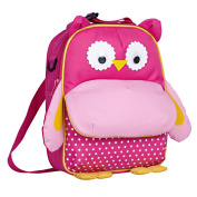 Yodo Playful 3-Way Kids Animals Lunch Boxes Carry Bag and Preshool Toddler Backpack,FDA-approved Insulated liner, Large Front Quick Access Pouch for Snacks or Knickknacks, Kids Age 3-5, Pink Owl