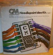 "Columbia-Minerva Needlepoint Kit #20810cm Yarn Palette"" 1976"