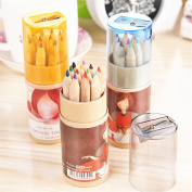 Zebratown 12pcs/set Girl PaintingstationerySchool Supplies Lapis De Cor 12 Colours Drawing Writing Wooden Colour Pencils
