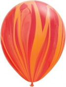 PIONEER BALLOON COMPANY Agate Latex, 28cm , Red & Orange