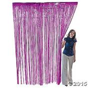 Fuchsia Foil Fringe Door & Window Curtain Party Decoration 3 X 8