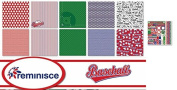 Reminisce - Baseball Scrapbook Papers & Stickers Set