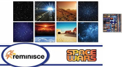 Reminisce - Space/star Wars Scrapbook Papers & Stickers Set