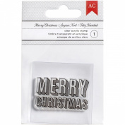 Deck The Halls Acrylic Stamp-Block Merry Christmas Phrase