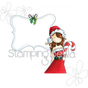 Stamping Bella Cling Stamp 17cm x 11cm -Uptown Girl Chrystal's Christmas Label