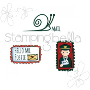 Stamping Bella Cling Stamp 17cm x 11cm -Hello Mr Postie Envelope Accents