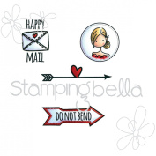 Stamping Bella Cling Stamp 17cm x 11cm -Seal Of Approval Envelope Accents