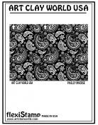 Flexistamps Texture Sheets Paisley Inverse Design - 1 Pc.
