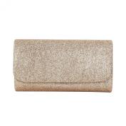 Premium Small Metallic Glitter Flap Clutch Evening Bag Handbag - Diff Colours